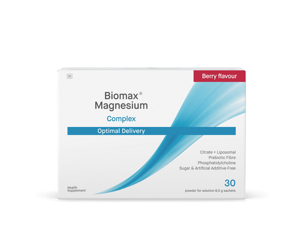 Biomax-Magnesium-Berry-Flavoured-Optimal-Delivery-Front-Box (1)